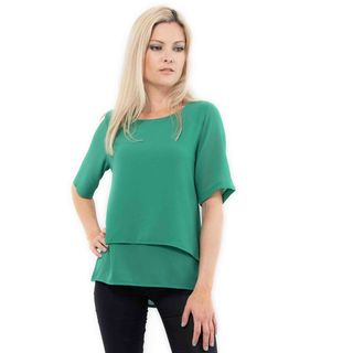 Emerald Chiffon Layer Top