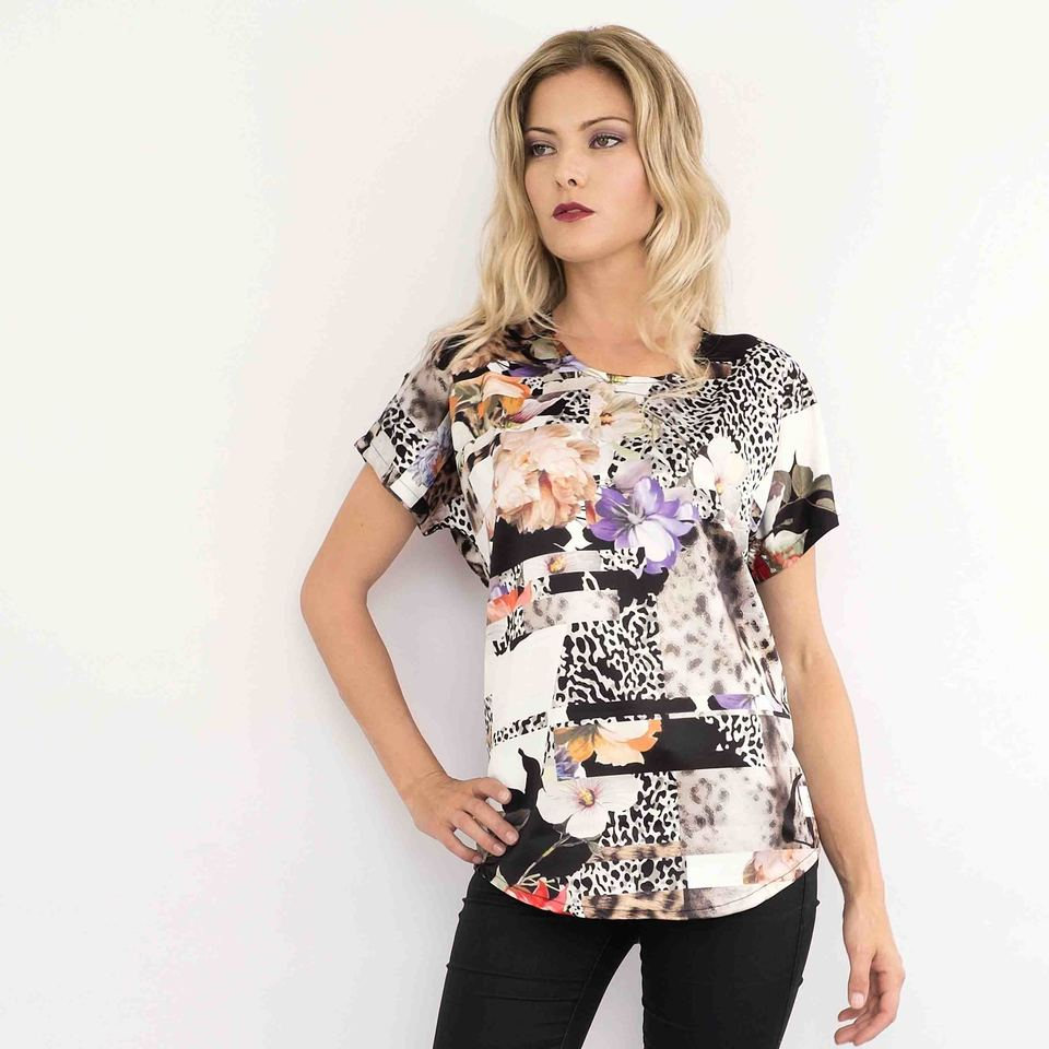 Animal Blossom Zara Top