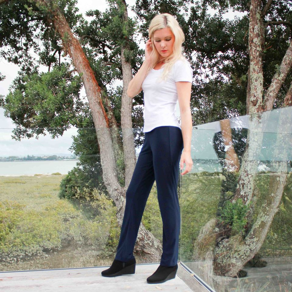Black Twiggy Travel Pants