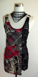 Red Rip It Up Spliced Tunic s10-12 - Limited Edition