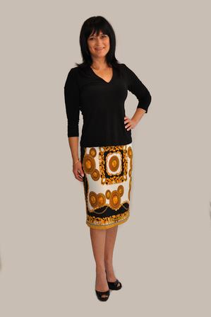 NEW season scarf print pencil skirt. Guaranteed to make you look a